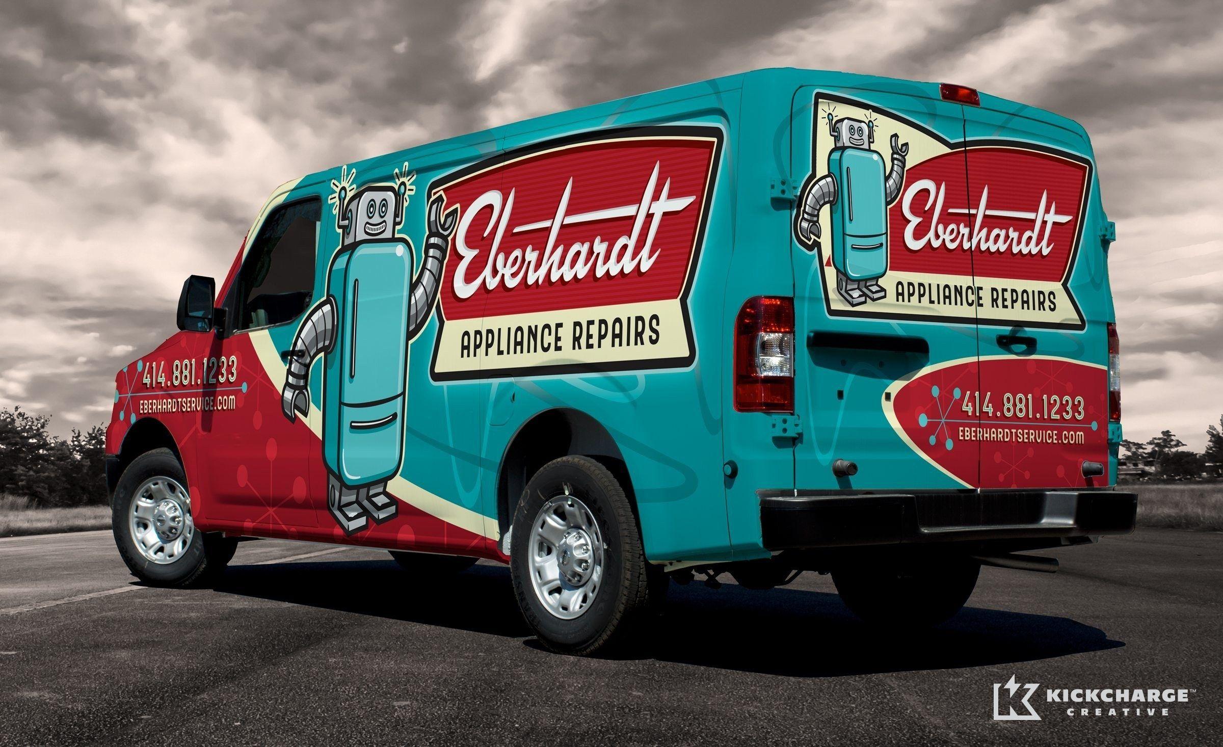 Eberhardt Appliance Repairs Kickcharge Creative Car Wrap Car
