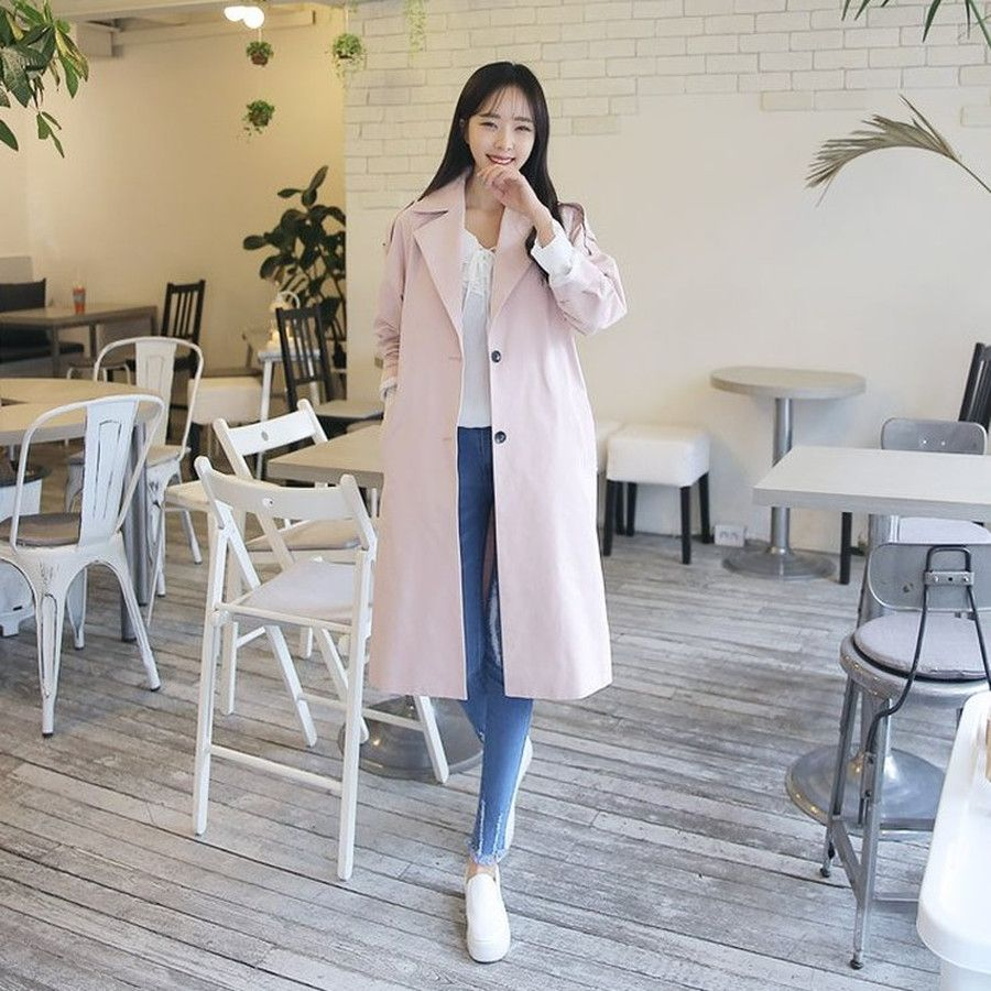 #envylook Single-Breasted Trench Coat #koreanfashion #koreanstyle #kfashion #kstyle #stylish #fashionista #fashioninspo #fashioninspiration #inspirations #ootd #streetfashion #streetstyle #fashion #trend #style