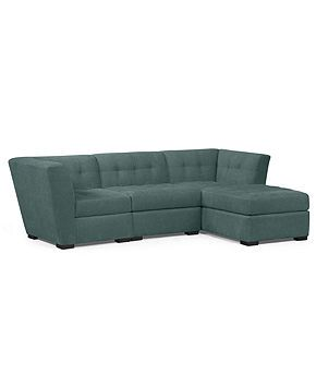 Roxanne Fabric Modular Sectional Sofa, 3 Piece (Square Corner, Armless  Chair And Chaise): Custom Colors   Sectional Sofas   Furniture   Macyu0027s