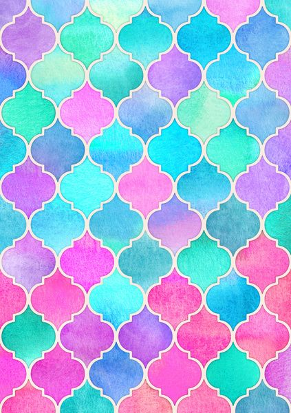 ce40c7082041 Bright Moroccan Morning - pretty pastel color pattern Art Print by Micklyn