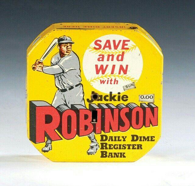 Jackie Robinson Dime Bank   vintage sports figure ads   Pinterest