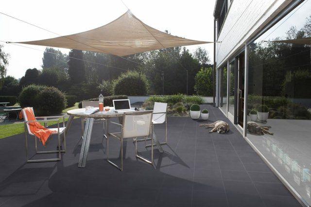 Revêtement terrasse  57 idées du0027inspiration pour les sols - plaque de beton pour sol exterieur