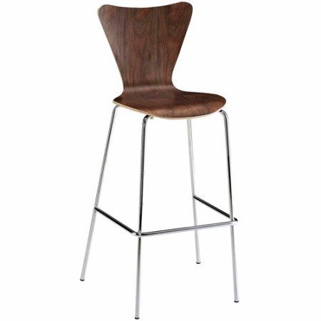 Modway Ernie Barstool, Multiple Colors, Brown
