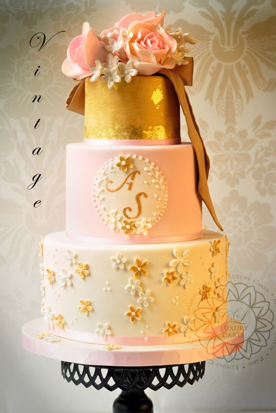 Vintage… | Here Comes The Bride | Pinterest | Luxury cake, Cake and ...