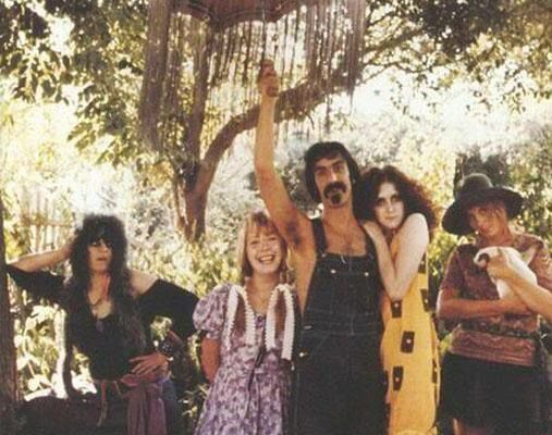 From Left To Right Mercy Fontenot Pamela Des Barres Frank Zappa Christine Frka And Cinderella Janet Ferguson Pamela Des Barres Frank Zappa Zappa