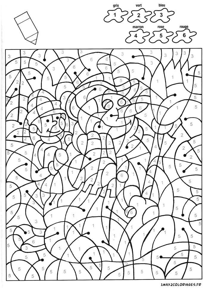 Coloriage Un Beau Bonhomme De Neige Avec 6 Couleurs Coloriage