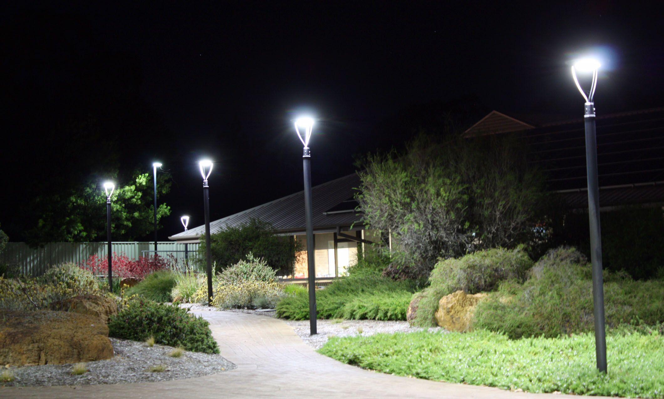 50 Watts 6500 Lumens Led Post Top Lights Okaybulb Led Garden Lights Post Lights Led Outdoor Lighting