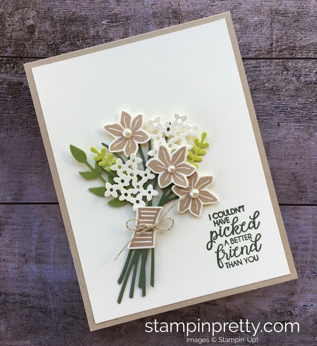 Pretty Friend Card With Bouquet Bunch Framelits Dies Special