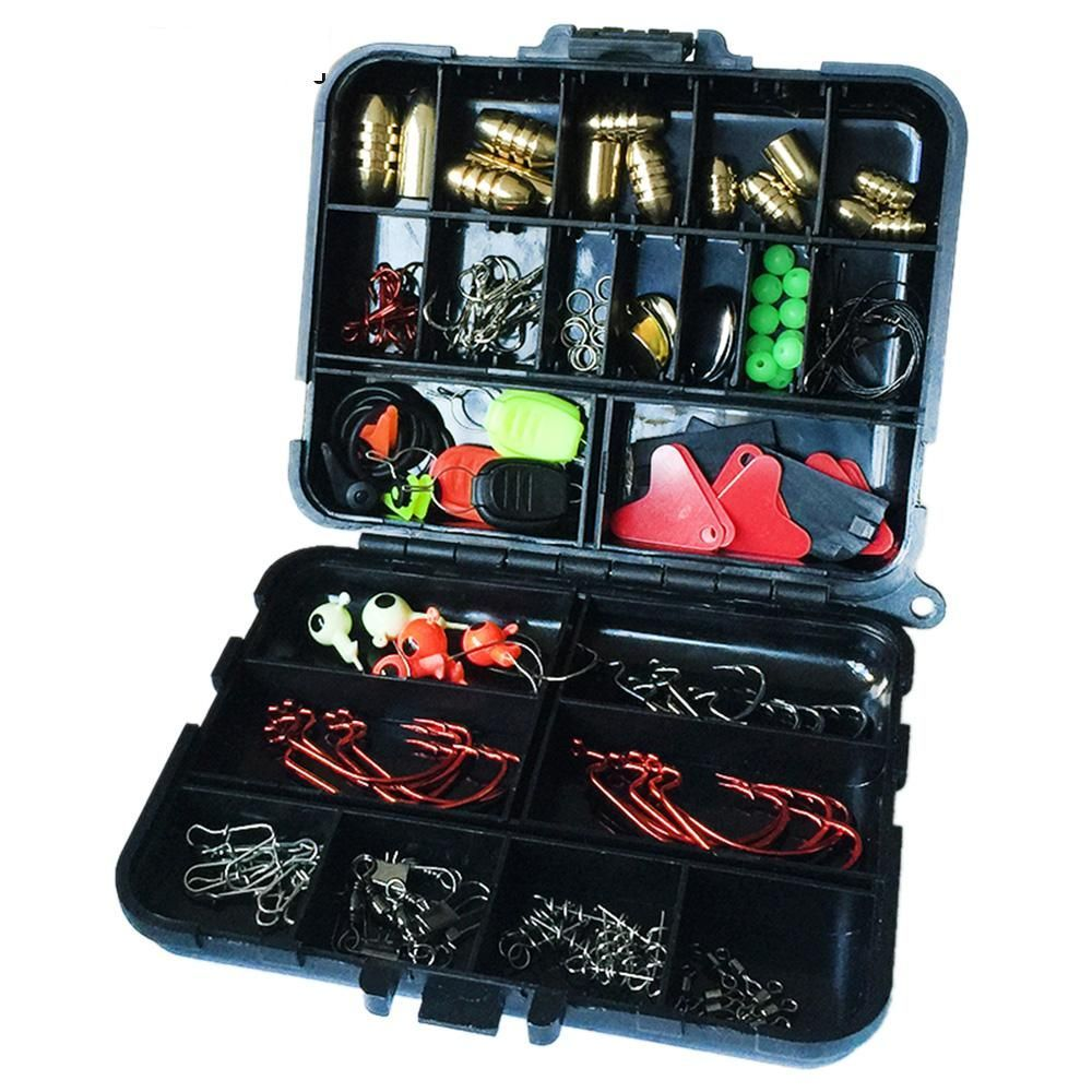 128Pcs Fishing Accessories Set Carp Catfish Freshwater Saltwater Fishing Tackle