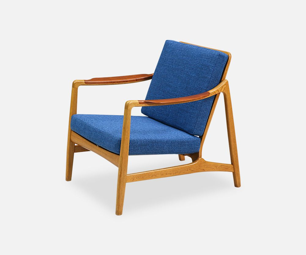 Tove & Edvard Kindt-Larsen Teak Lounge Chair for France & Daverkosen ...