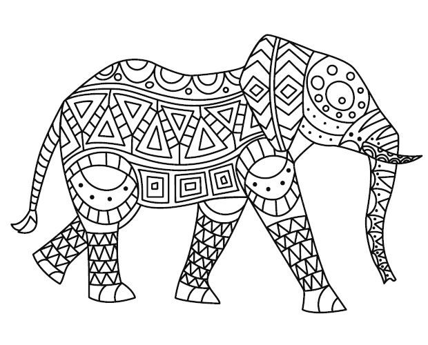 - Printable-elephant.jpg (620×500) Coloring Pages For Kids, Mindfulness  Colouring, Coloring For Kids