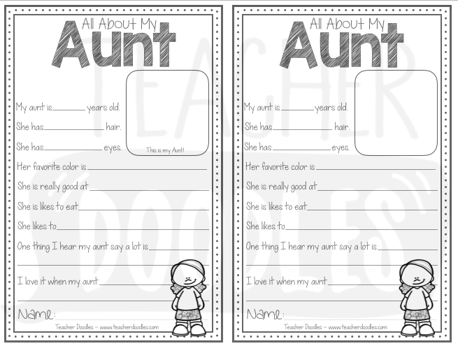 All About My Mom Bundle Mom Birthday Crafts Aunt Birthday Mothers Day Crafts For Kids