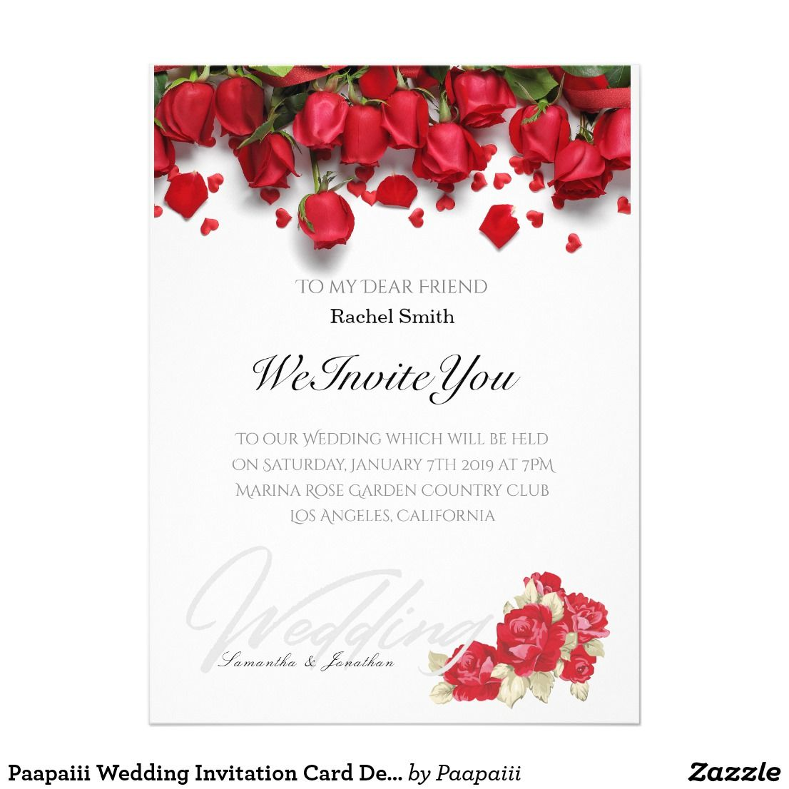 Paapaiii Wedding Invitation Card Design Zazzle Com Wedding