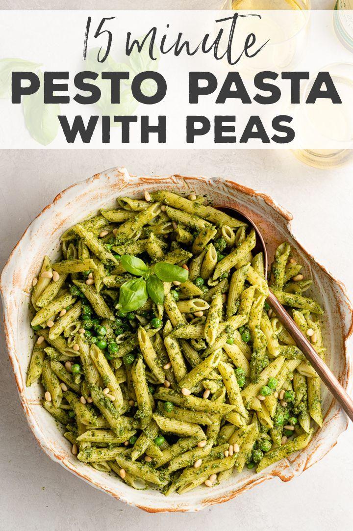 Fresh Pesto Pasta with Peas images