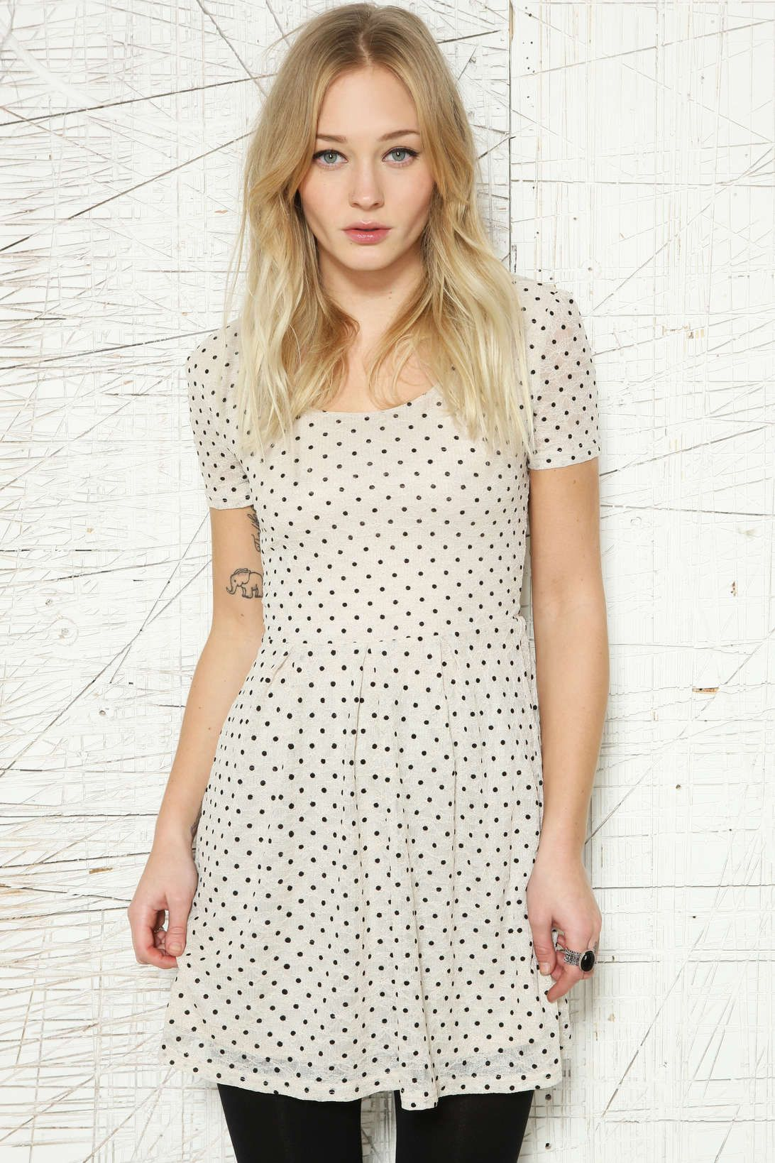 Pins And Needles Clothing Monochrome Polka Dot Dress Pins & Needles  Monochrome  Pinterest