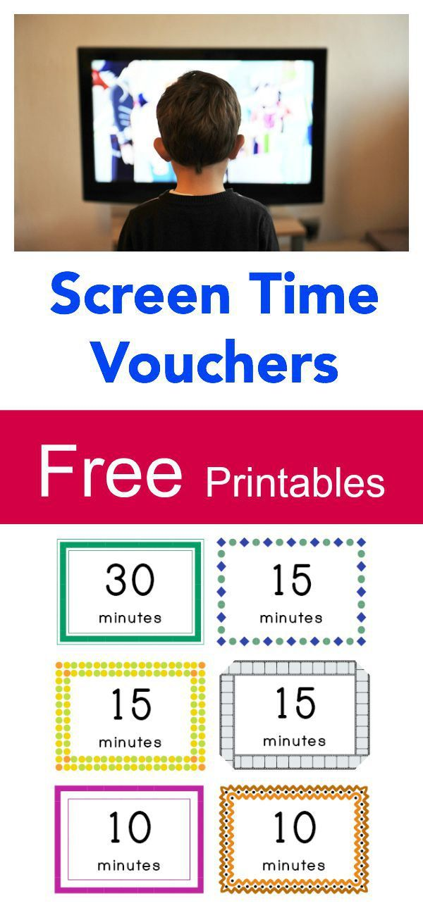 Free Printable Screen Time Vouchers How to balance screen time - printable vouchers