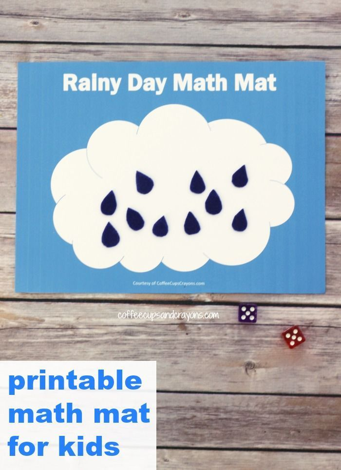 Free Printable Math Busy Bag for Kids | Busy bags