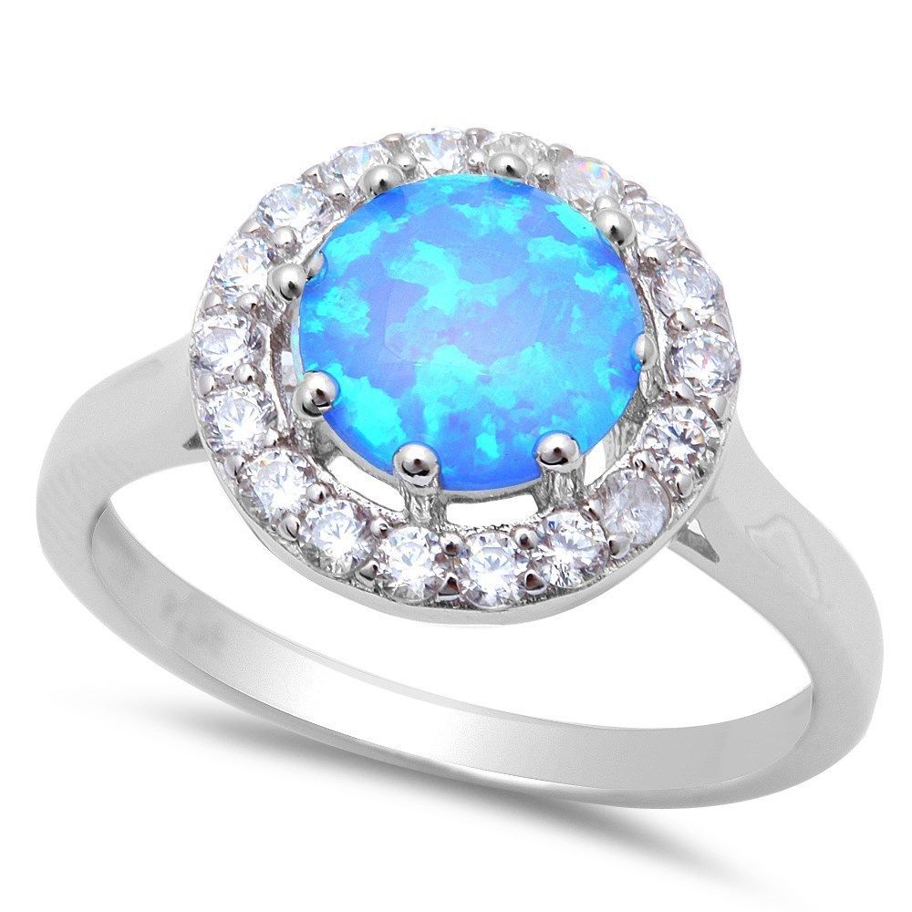 White Opal .925 Sterling Silver Ring sizes 5-11