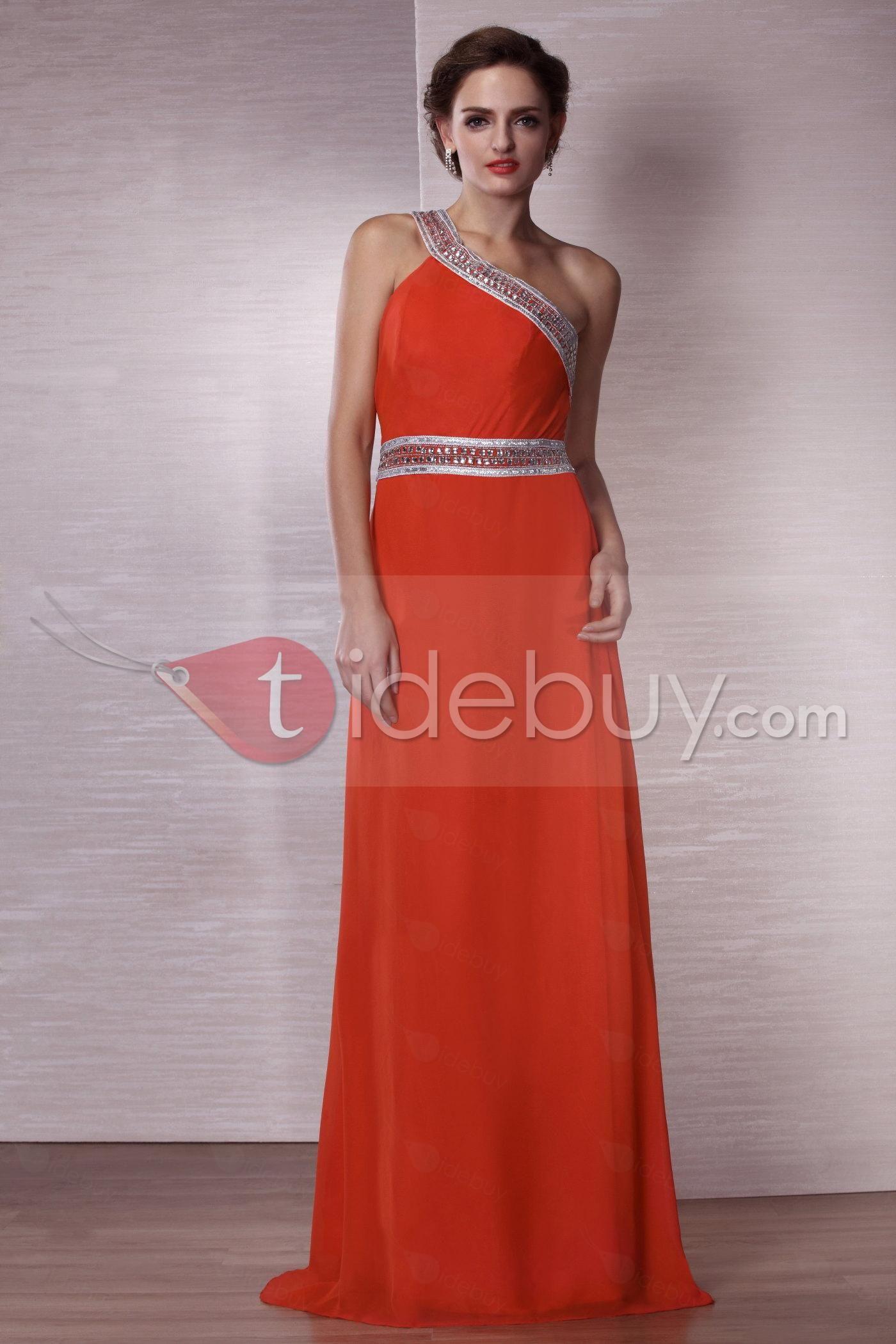 Clearance Sexy A-Line Floor-Length One-Shoulder Evening Dress ec86cf2ed