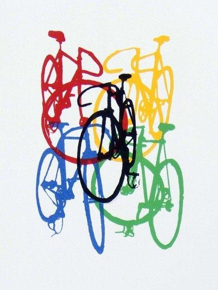 Track Bike Jumble Etsy Bicycle Painting Bike Art Bicycle Art