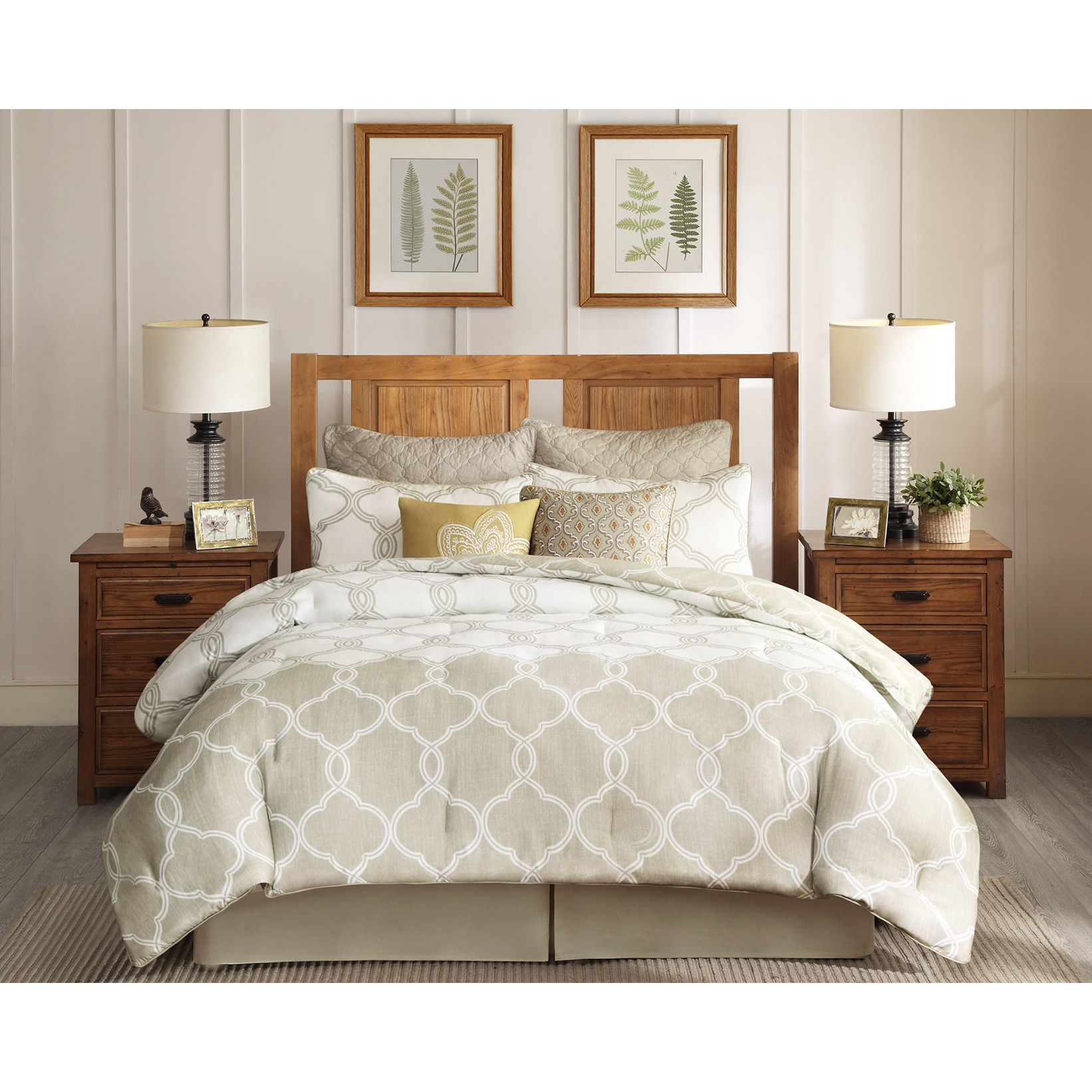 The Harbor House Gentry Comforter Set Features A Lattice Pattern That  Provides A Fresh Modern Update To Your Room. With Neutral Shades Of Tan And  Ivory, ...
