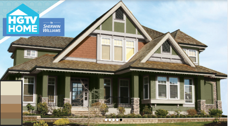 Sherwin Williams Rustic Refined Colors As Seen On Hgtv Body Sw 7734 Olive Grove Secondary 6117 Smoky Topaz Trim Windows Sw6133 Muslin Doors
