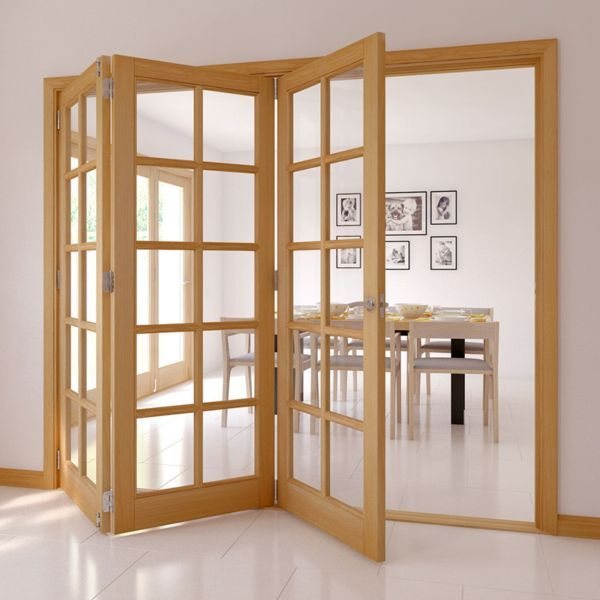 10 Lite Oak Veneer Glazed Internal Folding Door H 2035mm W 2146mm Departments Diy At Bu0026q