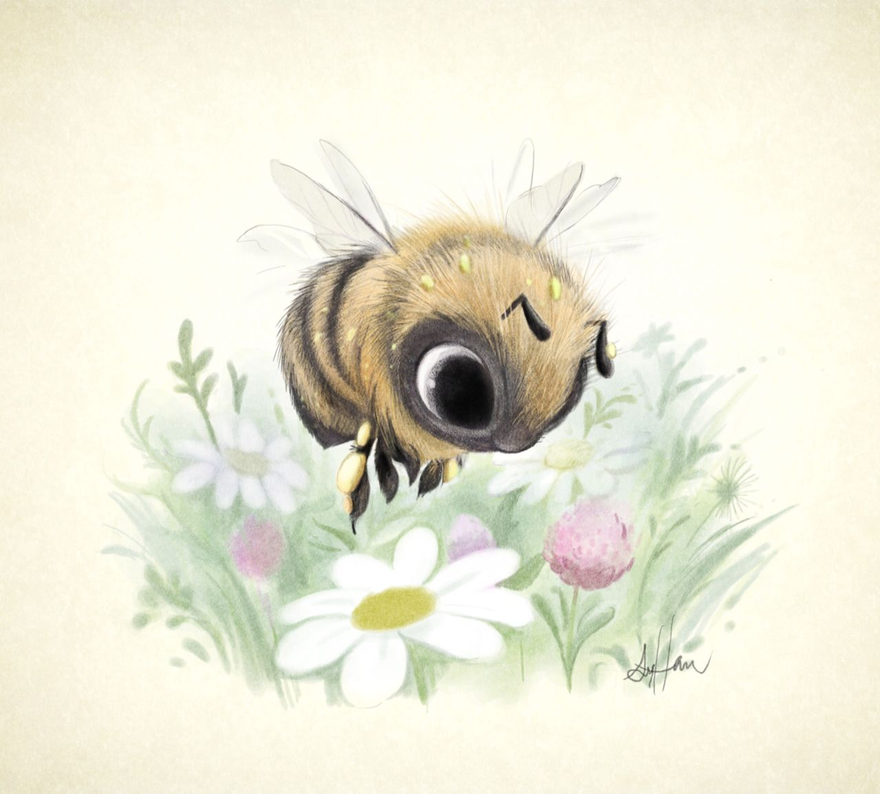 little worker bee super cute illustrations by sydney hanson