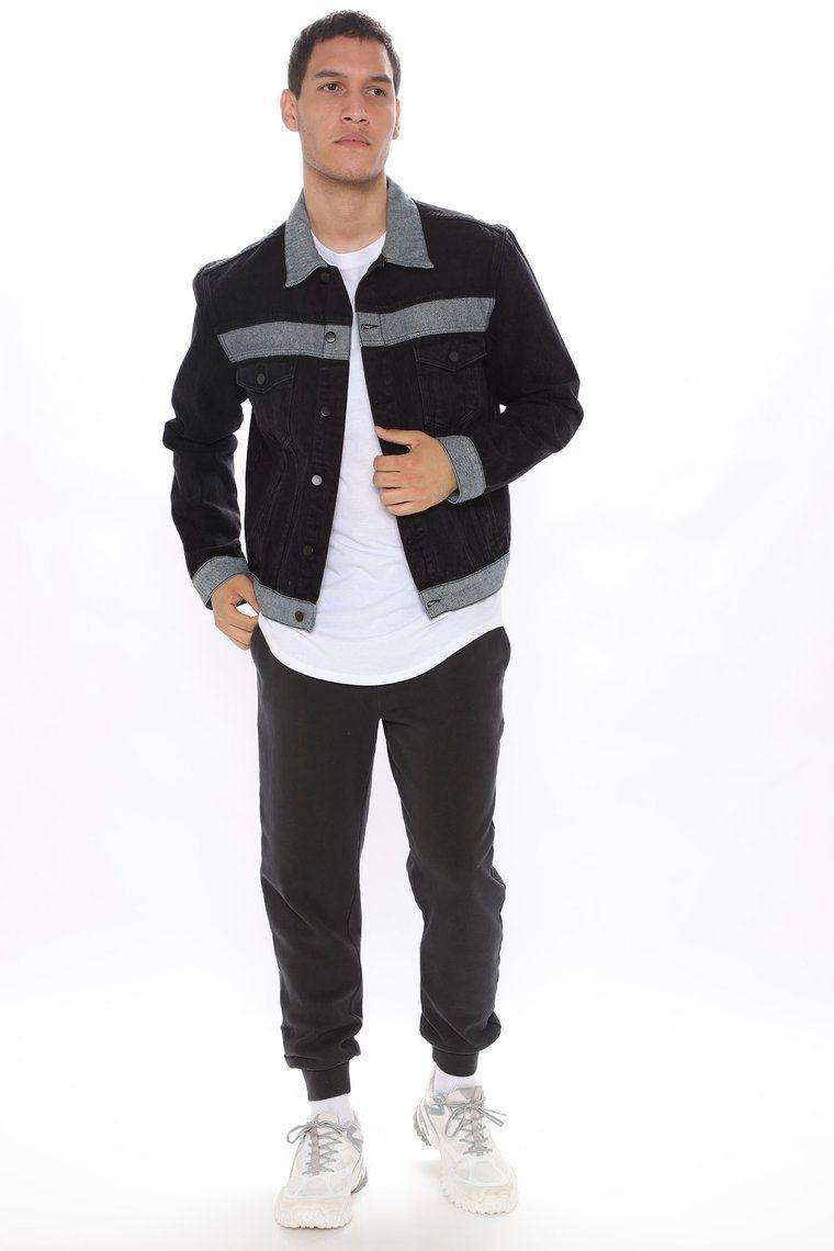 Legacy Walk Denim Jacket Black Combo Black Denim Jacket Denim Jacket Fashion Denim Jacket [ 1140 x 760 Pixel ]