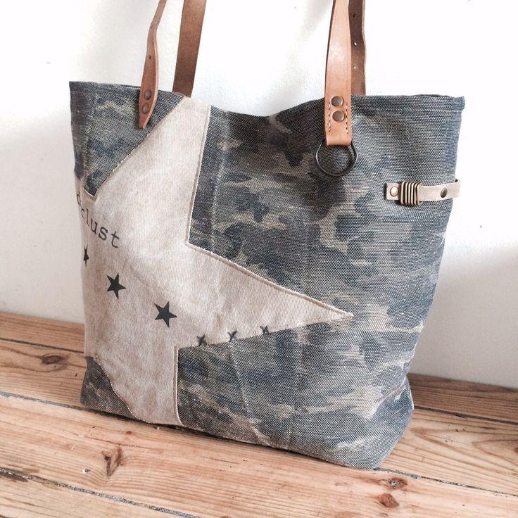 Bolso completamente hecho a mano con estilo de algodón y lino grueso mil