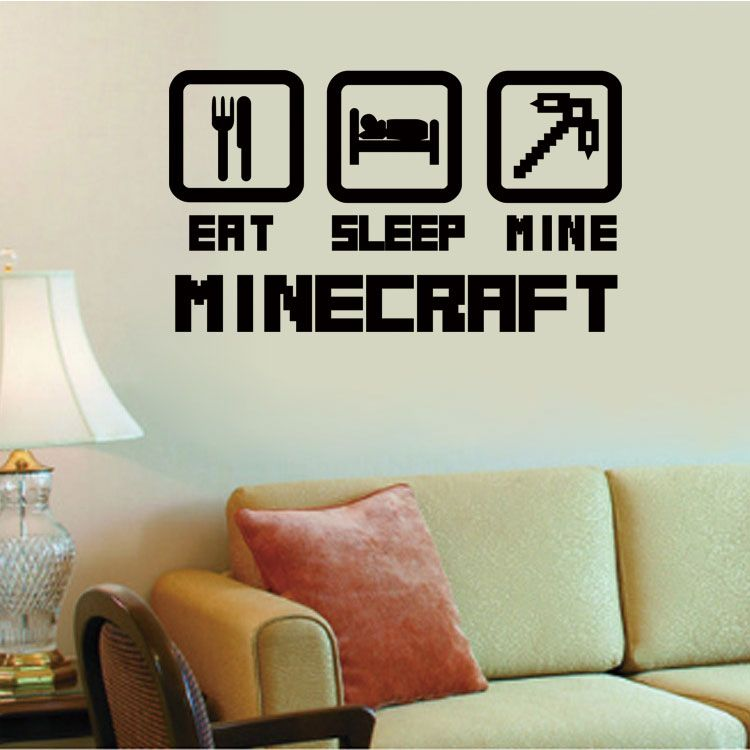 Günstige 4044 billige dekoration minecraft wandaufkleber - wandtattoo schlafzimmer günstig