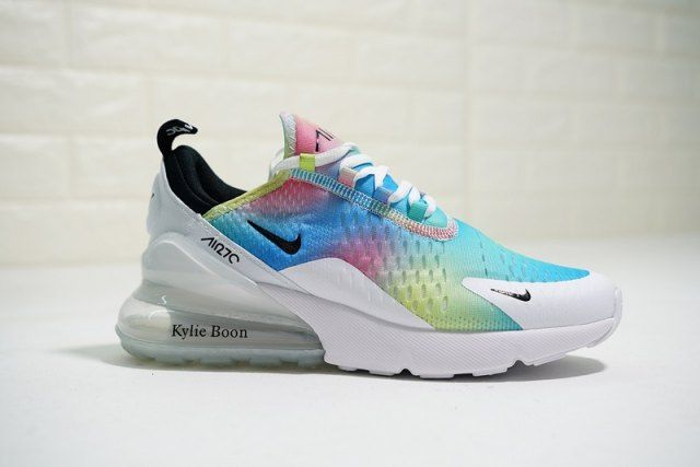 c40a53339e Nike Air 270 Flyknit White/Colorful women's Running Shoes in 2019 ...