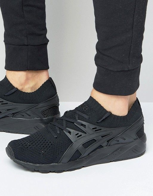 a133d95a8680 Asics Gel-Kayano Knitted Sneakers In Black H705N 9090
