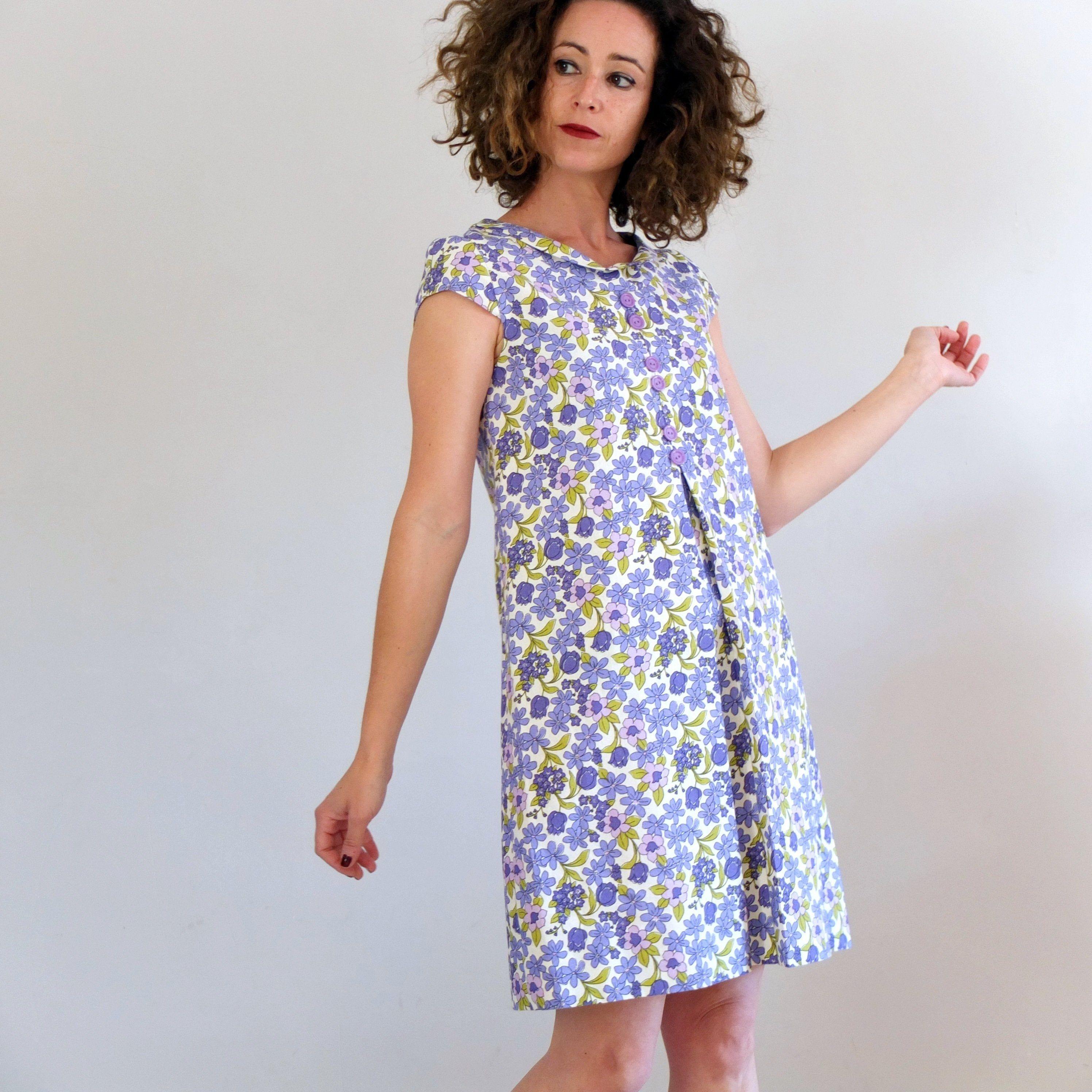 Vintage 60s 70s Summer Mod Dress Xs S Vintage Twiggy Dress Etsy Twiggy Dress Dresses Mod Dress