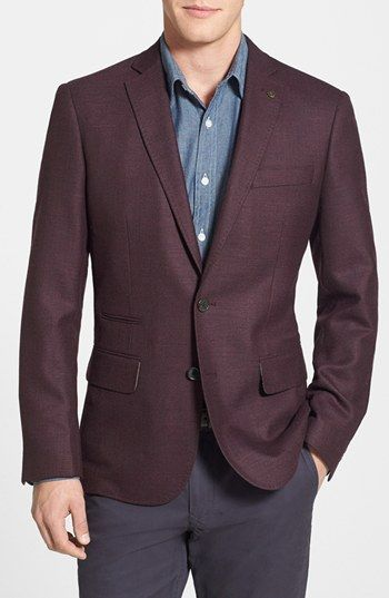 Free shipping and returns on Wallin & Bros. Trim Fit Wool Blazer at Nordstrom.com. A marked texture shapes a bold blazer in a lean, modern cut.