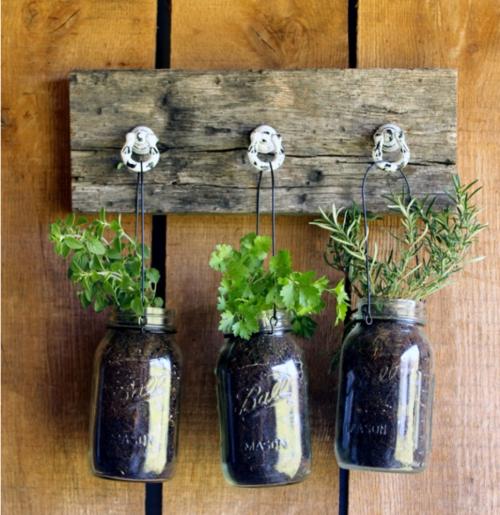diy mason jar planter herb garden wall mason jar herb on indoor herb garden diy wall mason jars id=84220