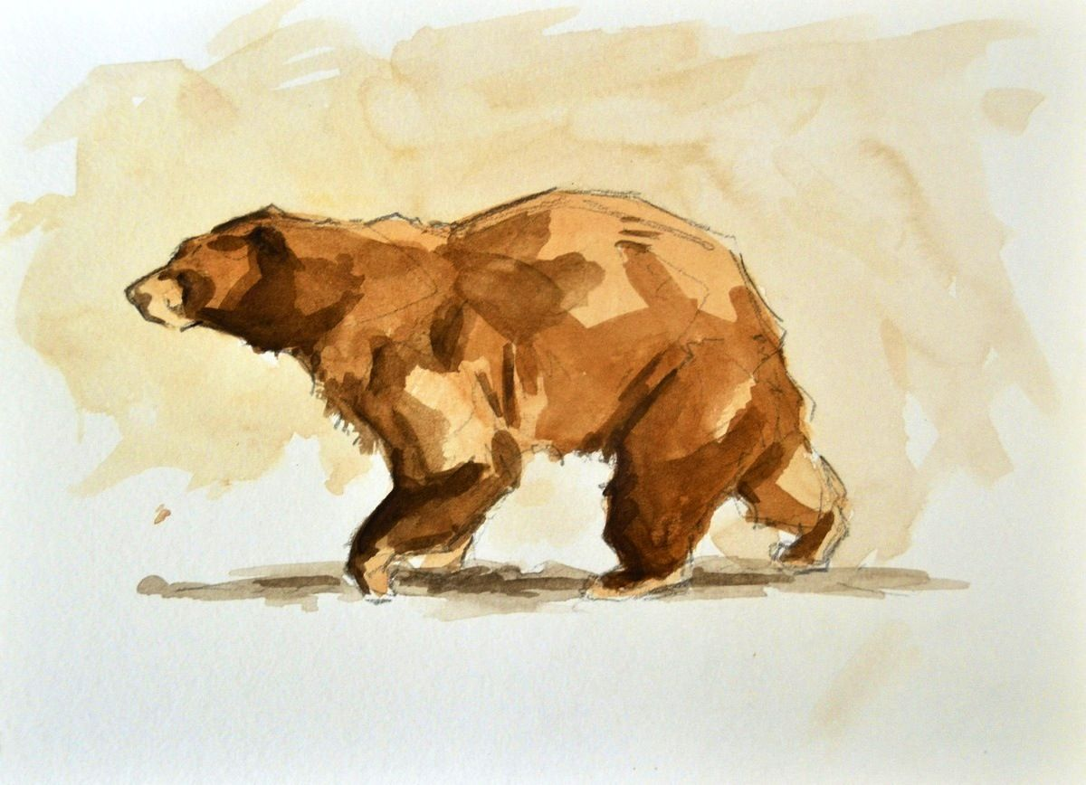 Cool bear tat. Reminds me of Brother Bear.