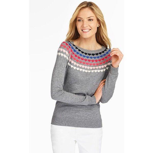 Talbots Women's Heart Yoke Sweater (695 NOK) ❤ liked on Polyvore ...