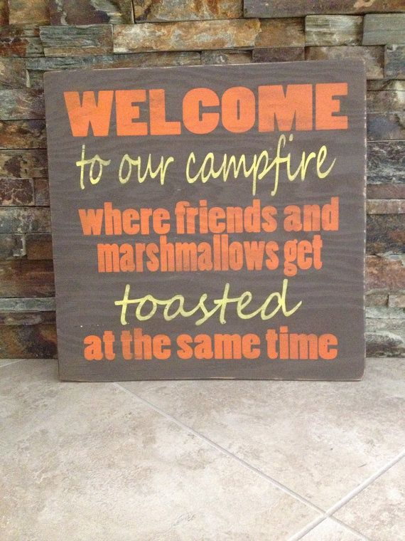 Toasted Campfire Distressed Wooden Sign on Etsy, $30.00