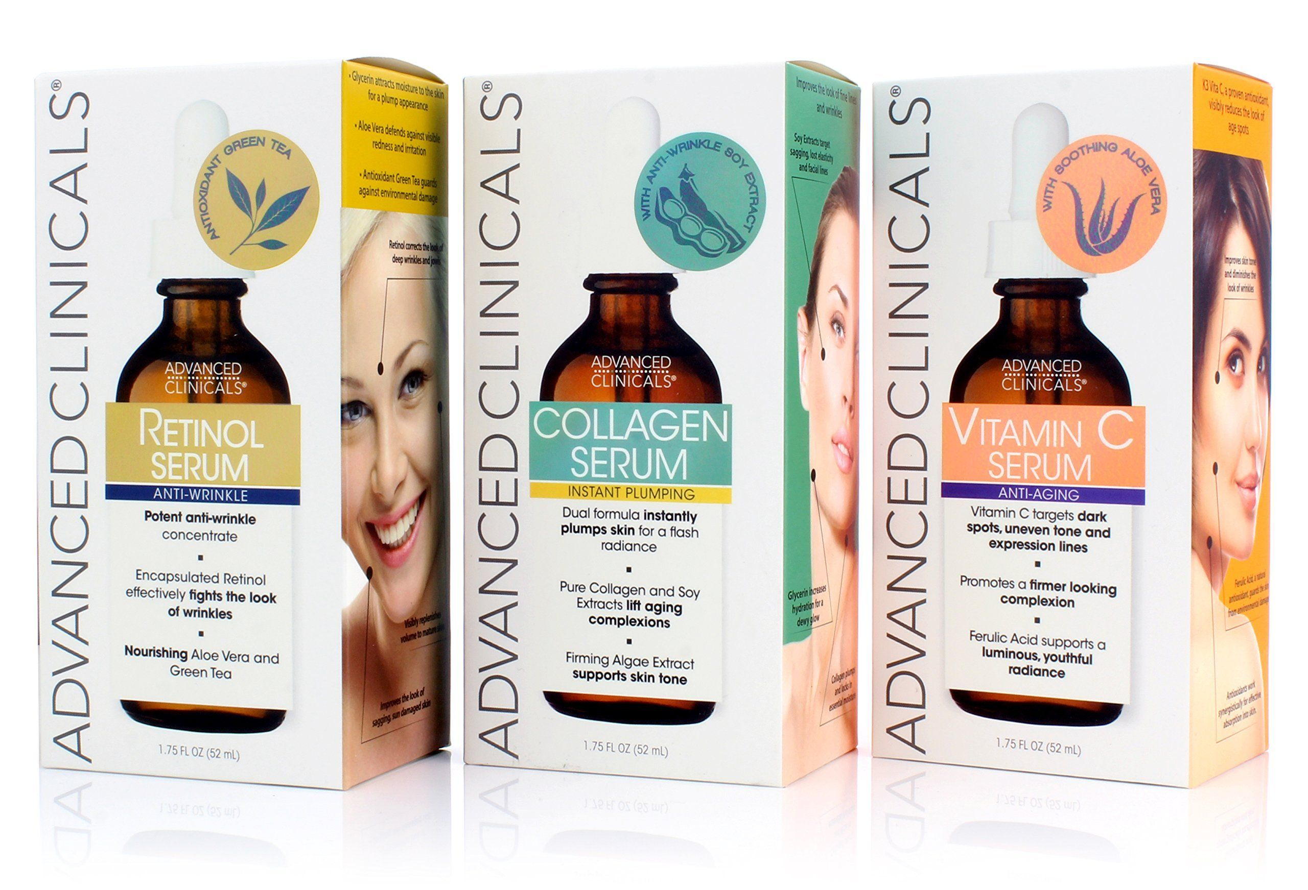 Advanced Clinicals Complete Anti Aging Plumping In 2020 Collagen Serum Complete Skin Care Retinol