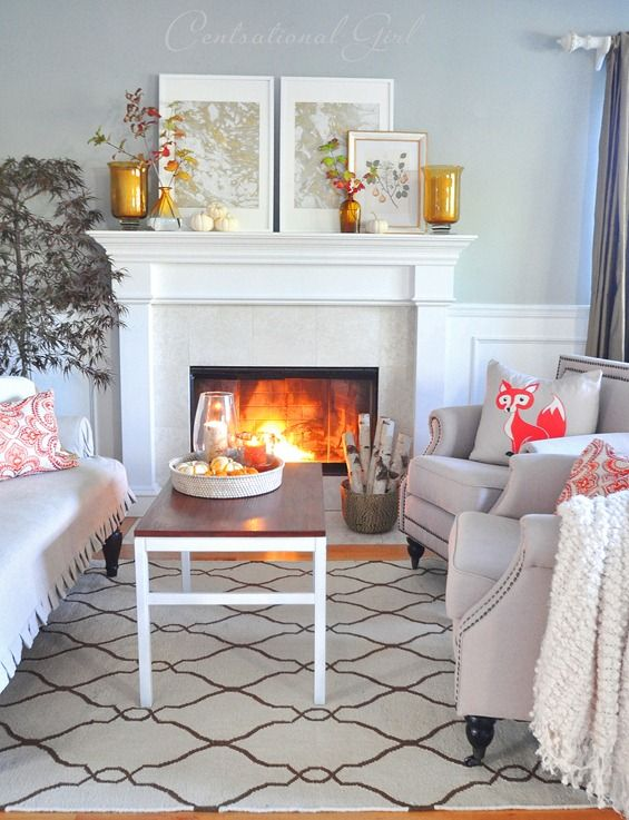 Autumn Living Room Mantel: That Fireplace Style And The Mantel Decor