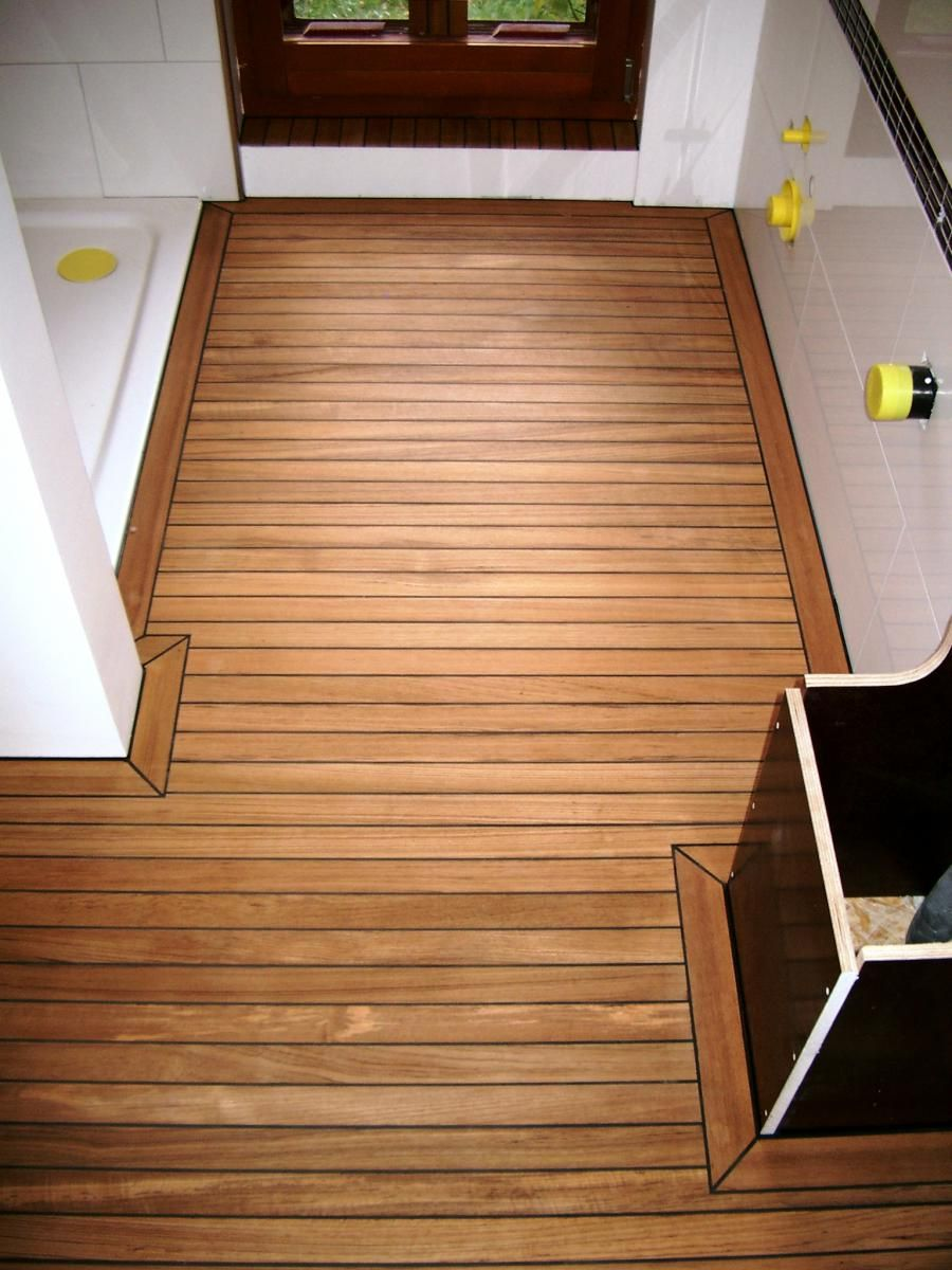 Holzboden Gummifuge Teak Teak Holz Holzboden