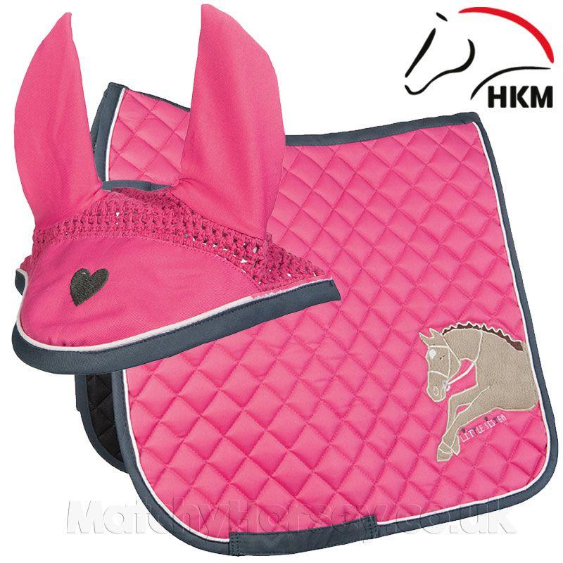 Numnah Horse Saddle Pad With Matching Long Bonnet Set
