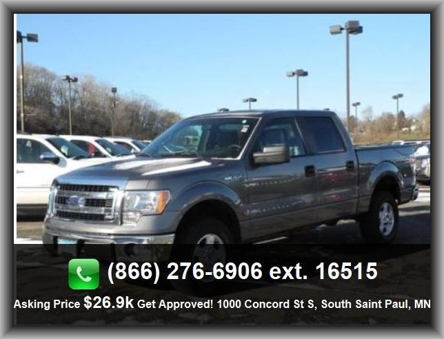 2013 Ford F-150 XL Pickup  Automatic Transmission, Tilt Steering Wheel, Air Conditioning, Power Brakes, Four Wheel Drive