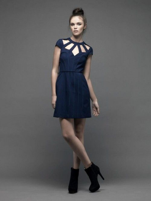 Vestidos de fiesta cortos color azul marino
