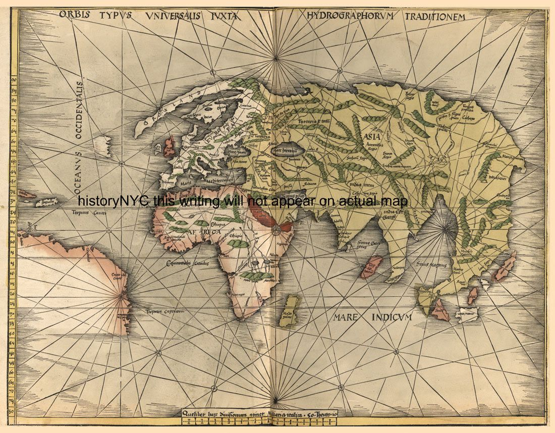 1508 Late Medieval Map Of The Known World Maps