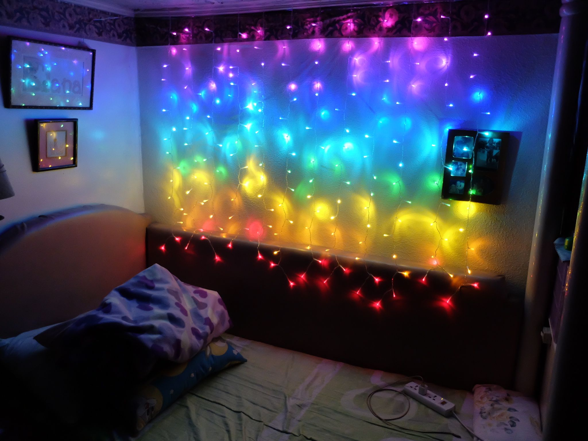 Bedroom Ideas I Tweaked My Bed With Some Rainbow Curtain Lights