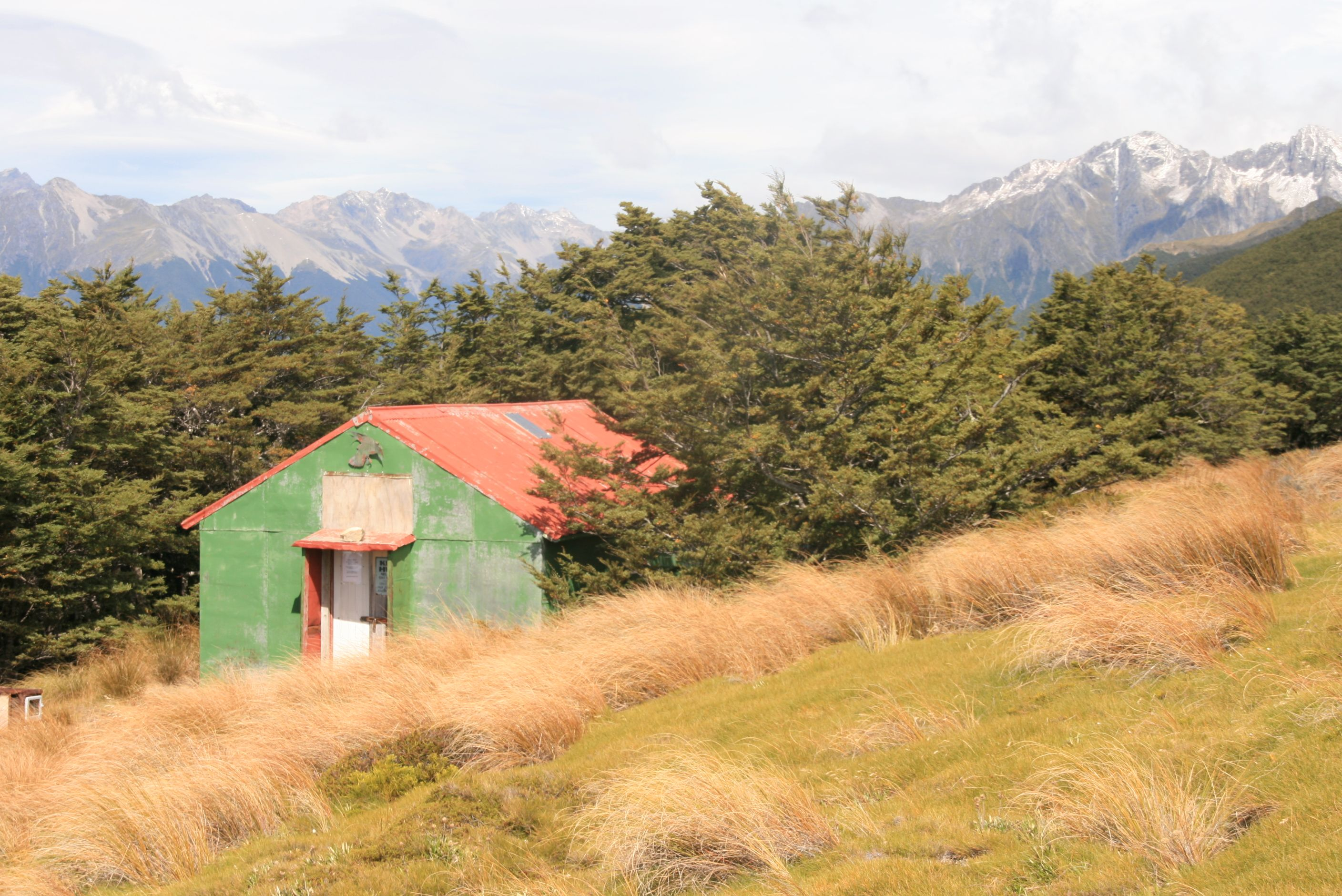 A Shed on a mountain of the Nelson Lakes National Park.