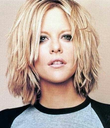 Meg Ryan Short And Choppy Thick Hair Styles Choppy Hair Haircut For Thick Hair