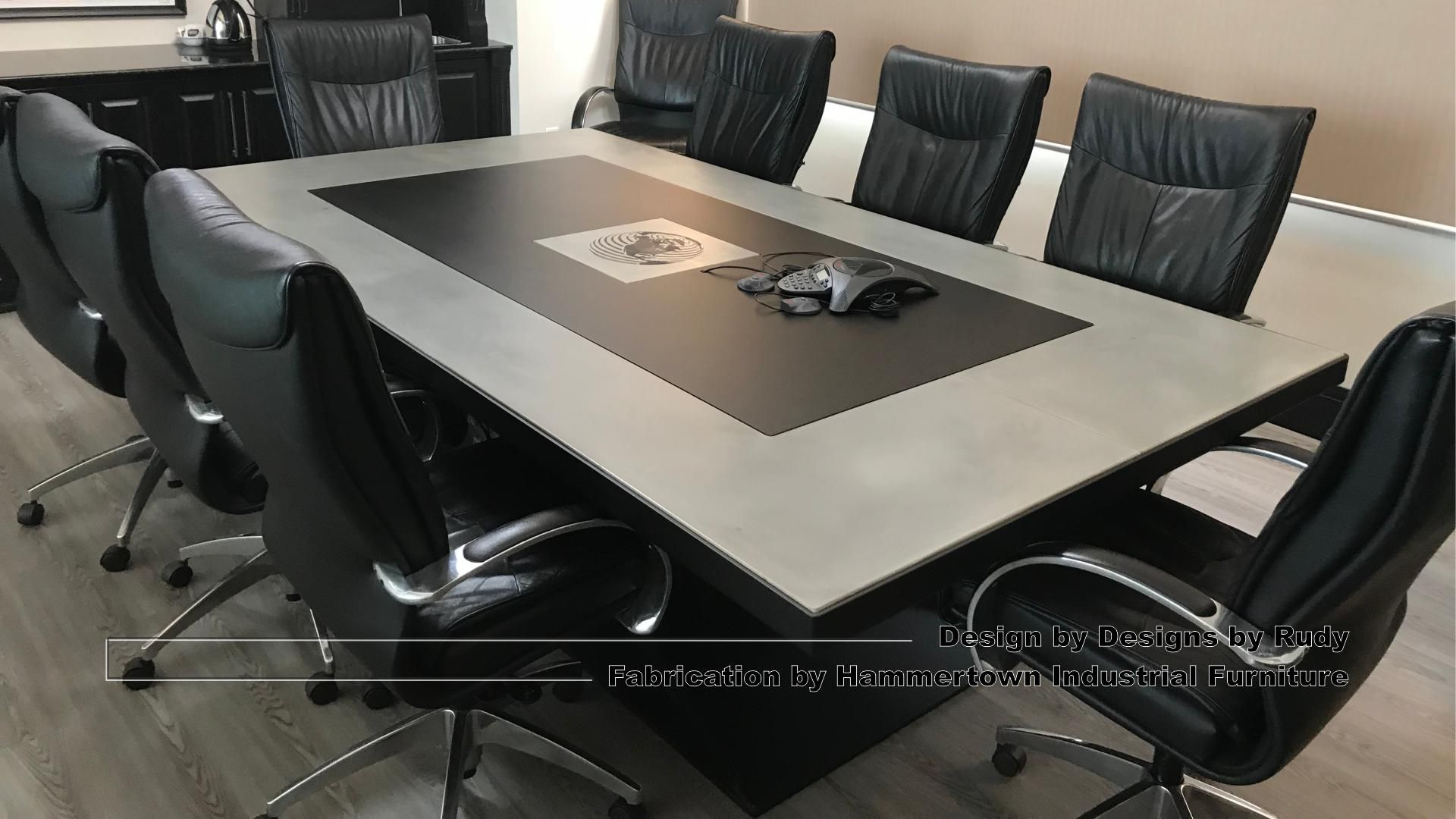 Awesome Concrete Conference Table Boardroom Tables Design And Fabrication Boardroom Table Design Conference Table Table Design